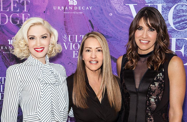 Gwen Stefani and Wende Zomnir, with Karen Sugar