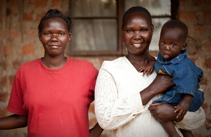 WGEF client Yolanda poses with her daughter and grandson