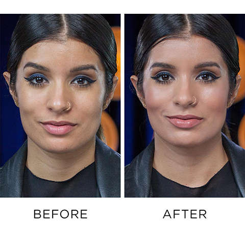 Before and After Using Naked Skin Color Correcting Fluid for Dullness