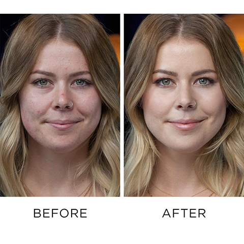 Before and After Using Naked Skin Color Correcting Fluid - Green