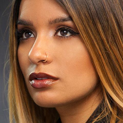 Steal This Vice Look: Metallic Bronze Lip