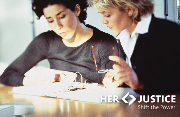 Her Justice connecting a lawyer with a woman in need