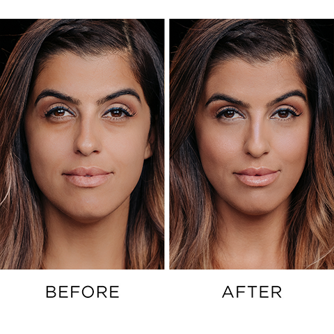 Before and After Using Naked Skin Color Correcting Fluid - Peach