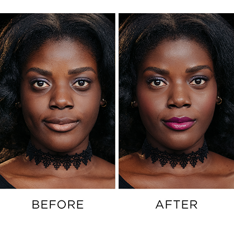 Before and After Using Naked Skin Color Correcting Fluid - Deep Peach
