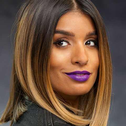 Steal This Vice Look: Matte Purple Lip
