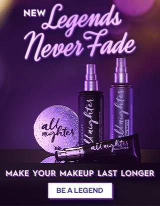 Legends never fade. Prep and set your makeup. Shop Now >