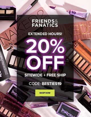 Extended. Friends and Fanatics. 20% off + free shipping. Code: BESTIES19. Treat Yourself >