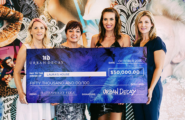 UD check donation to Laura's House